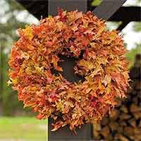 Autumn Oak Leaf Wreath, 26""