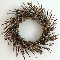 Pussy Willow Wreath, 18""