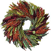Feathered Friends Wreath, 12""
