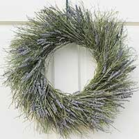 Winterbud and Preserved Lavender Wreath