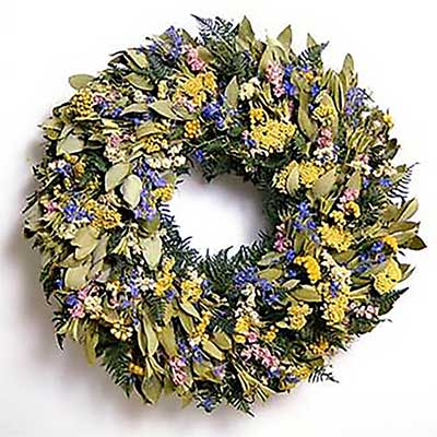 Myrtle with Flowers Wreath