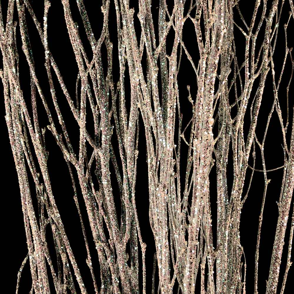 Birch Branches White Sparkle