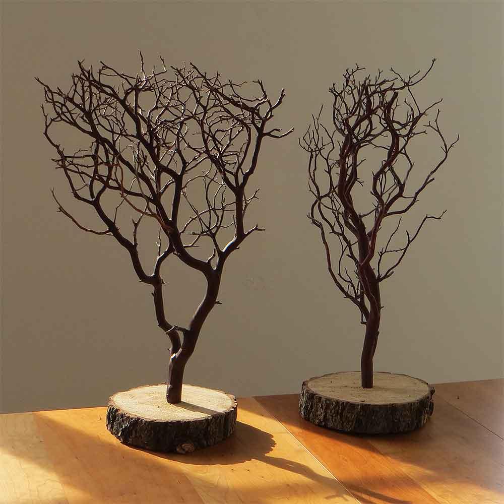 Natural manzanita centerpieces